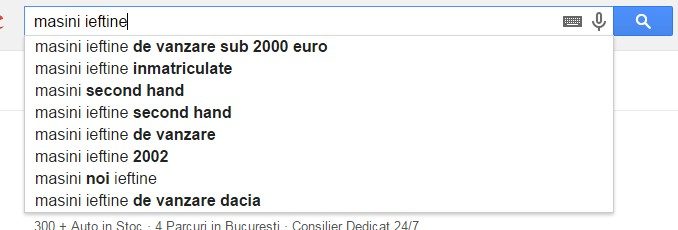 exemple fraze cheie google suggest
